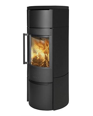 Отопительная печь WIKING Luma 6 в облицовке из керамики (Цвет Черный)