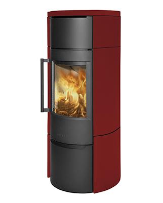 Отопительная печь WIKING Luma 6 в облицовке из керамики (Цвет Красный)