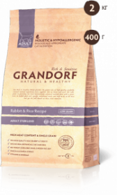 Grandorf Rabbit & Rice Кролик c рисом д/кошек