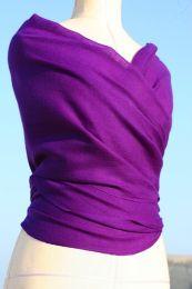 Фиолетовый палантин из кашемира, 200х100 см (под заказ)