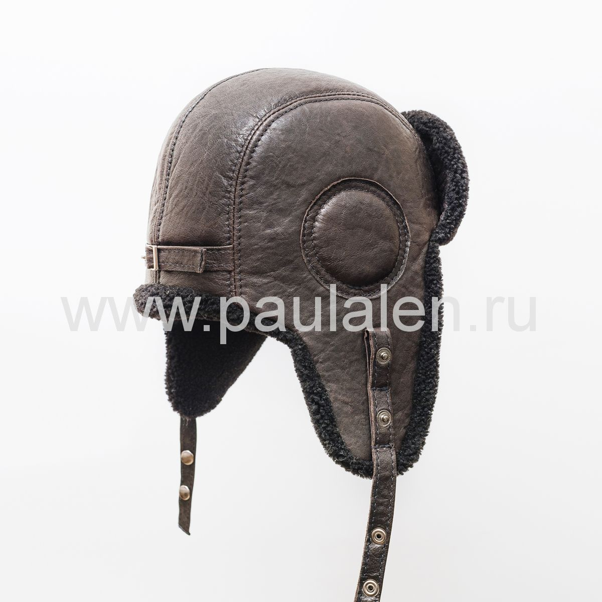 Шлем Авиатор из овчины