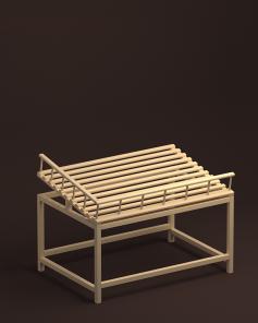 Арт. В016. Стол для хлеба крайний