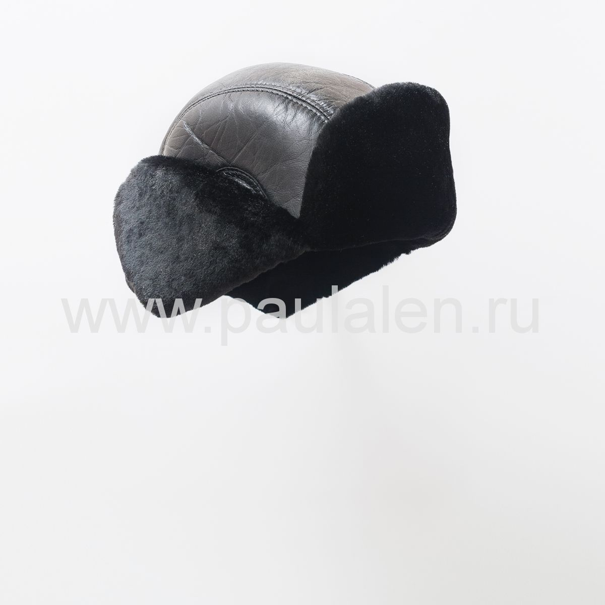 Кожаный шлем авиатор