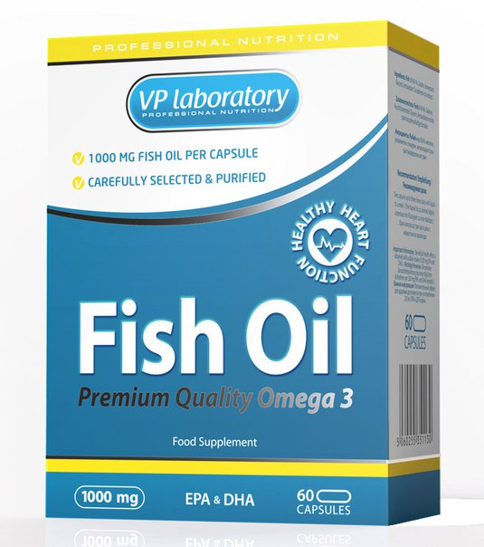 VPLab Fish Oil 1000мг ,60 капс