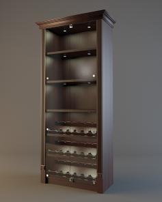 Шкаф для элитного алкоголя LD 002 (со стеклянными дверцами)