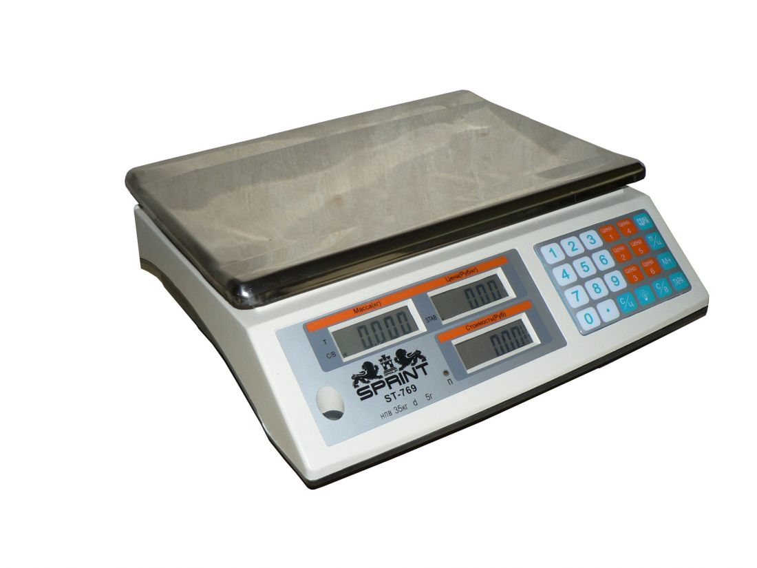 Весы торговые электронные Sprint ST-769-40 без стойки