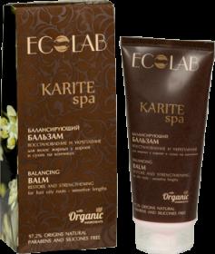 """""""Ecolab"""" Karite Балансирующий бальзам  для волос """"Восстановление и Укрепление"""" для жирных у корней"""