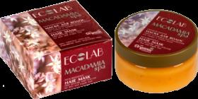"""""""Ecolab"""" Macadamia Питательная маска для волос """"Объем и Глубокое восстановление"""""""