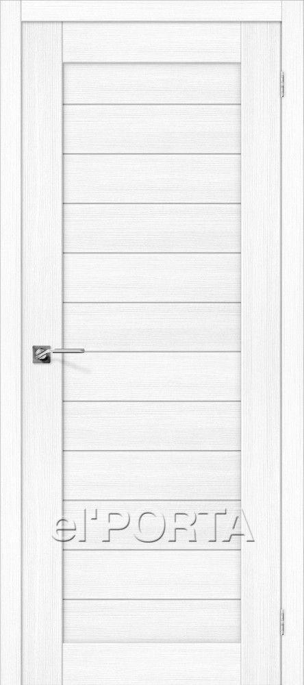 Межкомнатная дверь ПОРТА X-21 Snow Veralinga