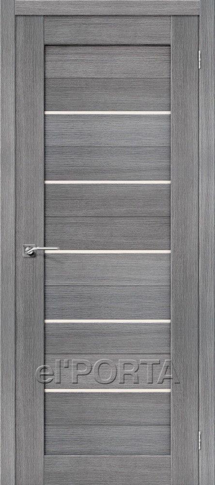 Межкомнатная дверь ПОРТА X-22 Grey Veralingа