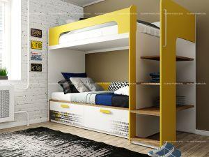 Кровать чердак+кровать Klюkva