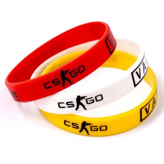 Цветные силиконовые браслеты CS:GG
