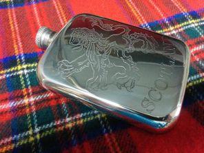 Фляжка из британского пьютера SCOTLAND  Шотландский лев- Власть Короля