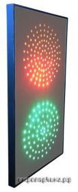 Светофор светодиодный двухсекционный (145мм)