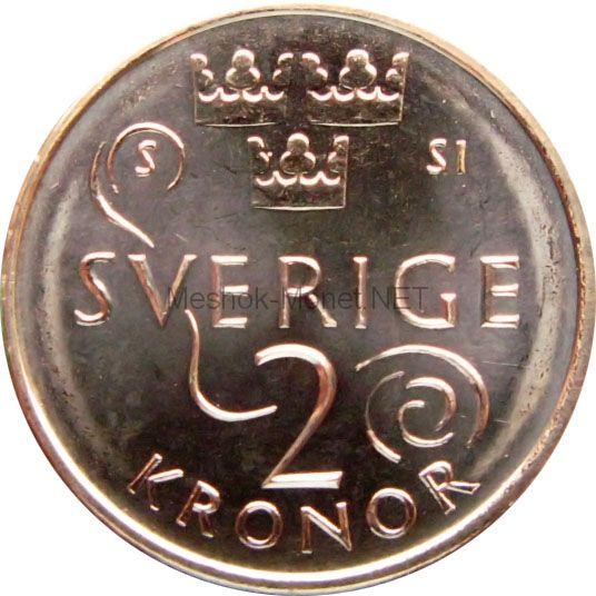 Швеция 2 кроны 2016 г.