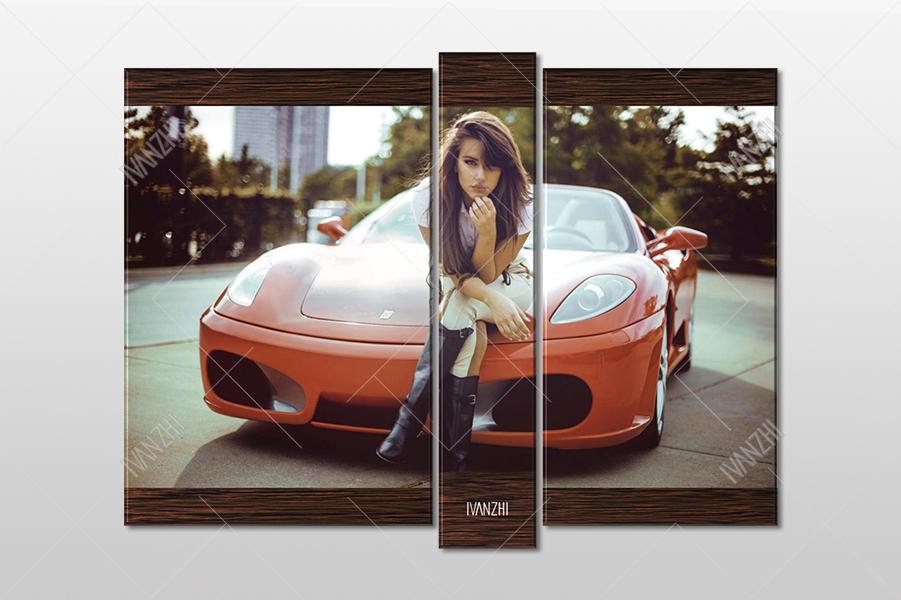 Девушка и Ferrari 430