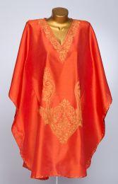 НЕТ В НАЛИЧИИ Оранжевое платье, натуральный шелк (Москва)