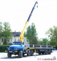 Аренда крана манипулятора на 3 тонны, вездеход на базе автомобиля Урал, тягач с полуприцепом длиной 9 м на  8 тонн