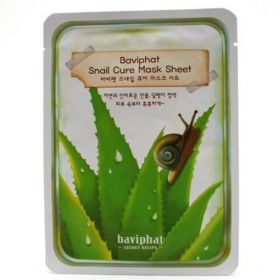 Baviphat Snail Cure Mask Sheet 25g - Маска тканевая улиточная