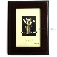 Рамка для фото 10х15 А10 (цвет: темно-коричневый)