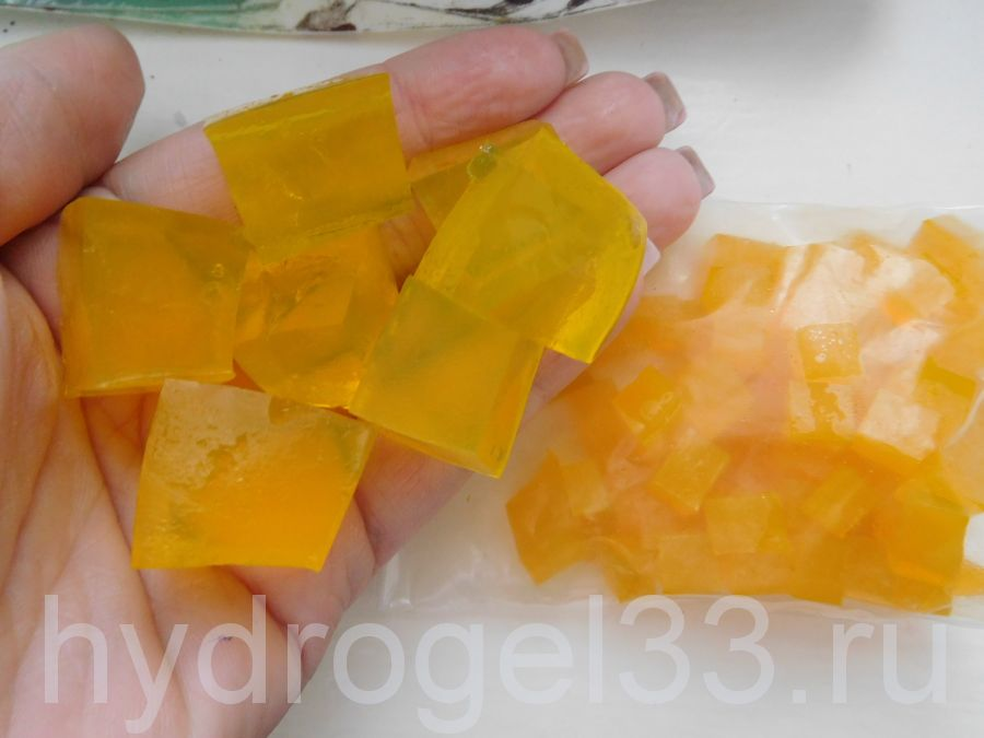 Гидрогель кубики жёлтые (120 шт)