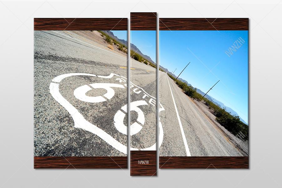 "Модульная картина ""автомагистраль Route-66"""