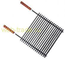 Гриль решетка  с деревянными ручками для мангала