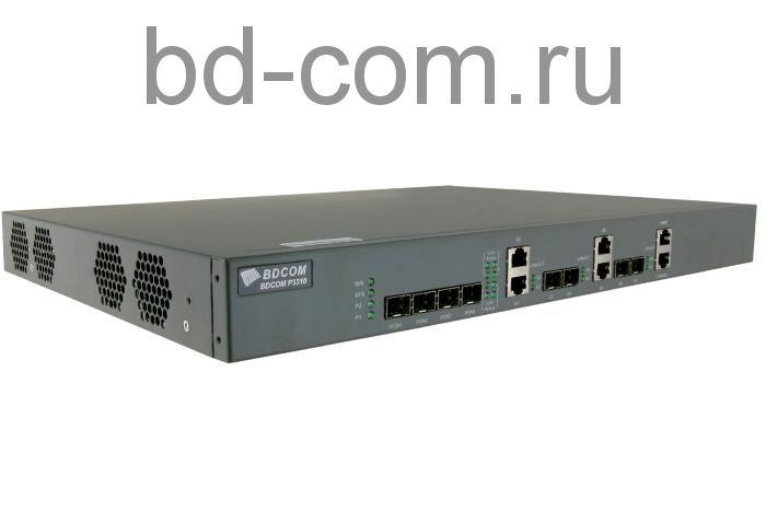 Терминал стационарный (OLT) BDCOM P3310D-2AC (4 порта GEPON) 2 блока питания