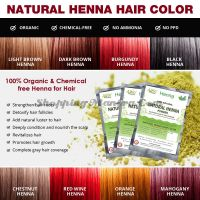 Натуральная краска на основе хны (махагон) Аллин Экспортерс | Allin Exporters Mahogany Henna Hair Color