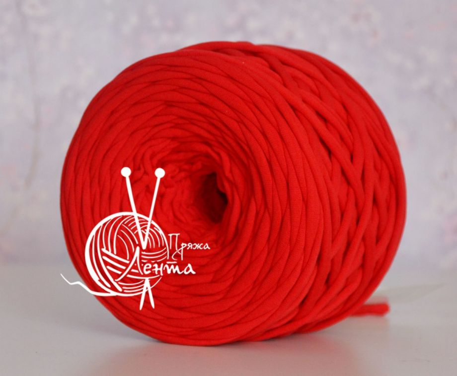 Пряжа Лента. Цвет Красный