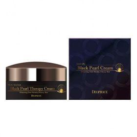 Deoproce Black Pearl Therapy Cream 100g - Крем для лица с черным жемчугом антивозрастной
