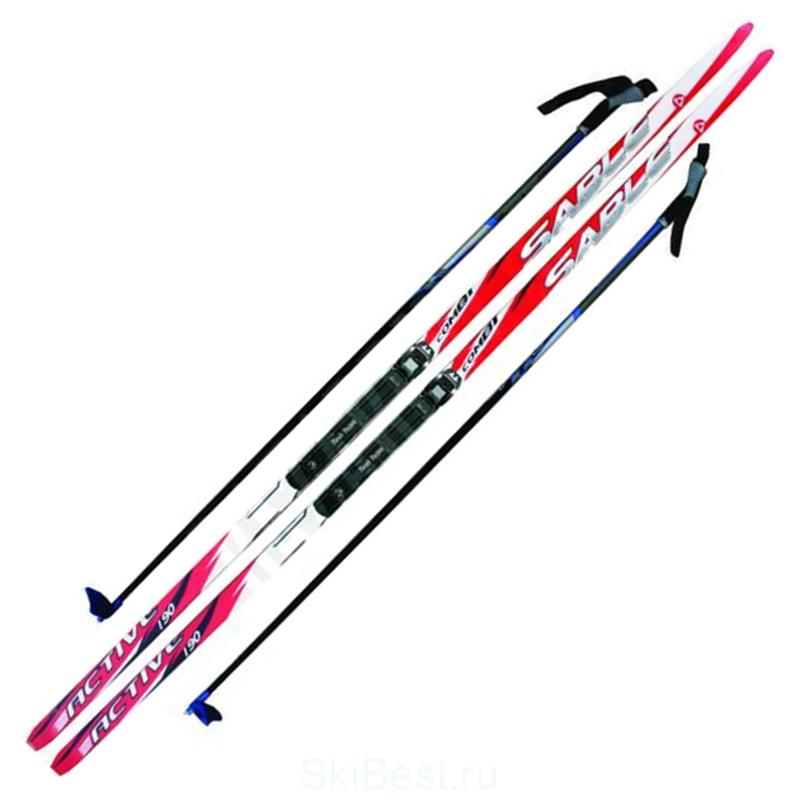 Лыжный комплект NNN 170 см с креплением SNOWMATIC (РОССИЯ)
