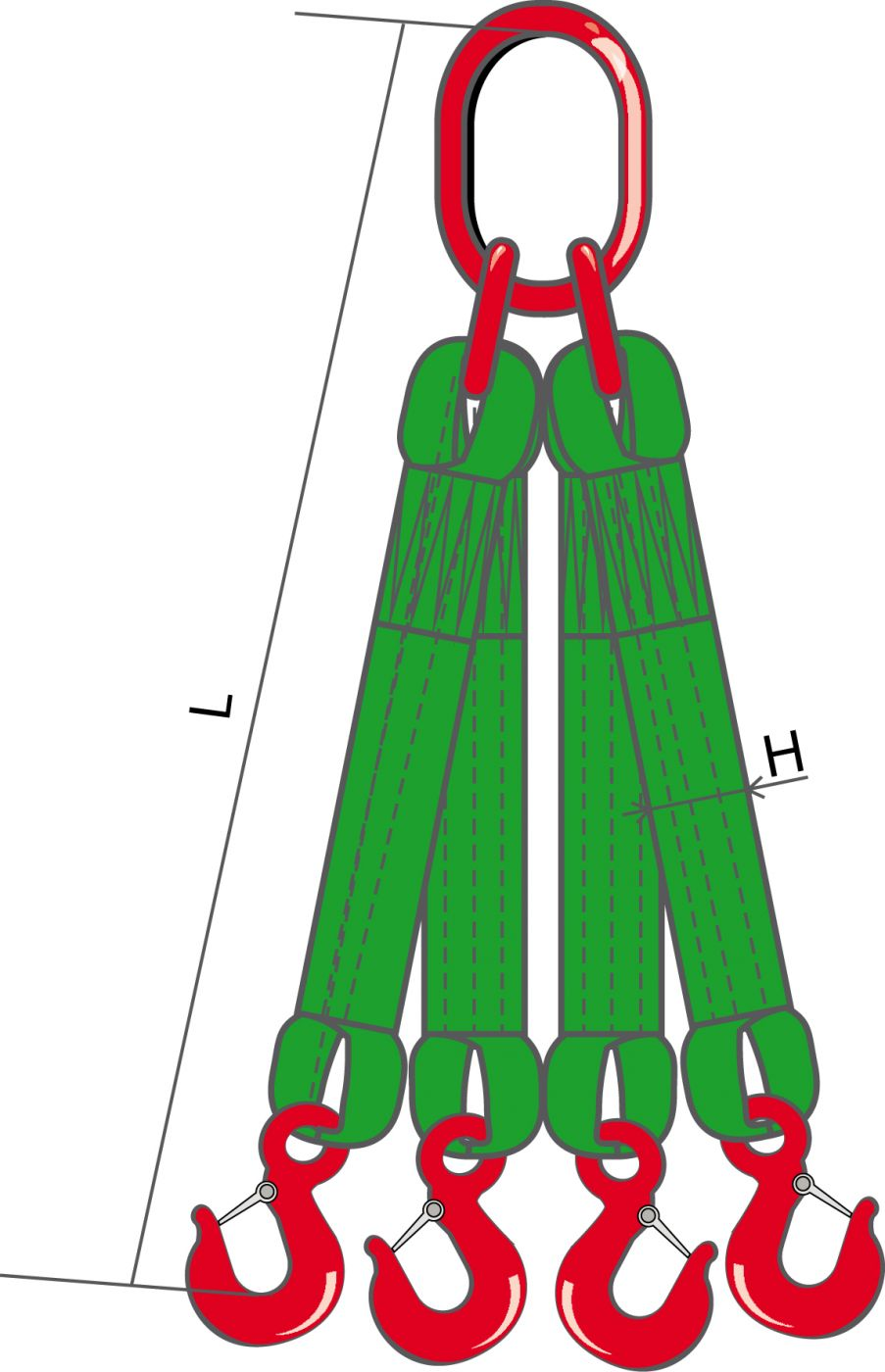 4СТ - Строп текстильный четырехветьевой