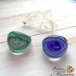 Кольцо Тарантелла муранское стекло