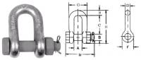 Скобы прямые такелажные типа SAE с гайкой и шплинтом SAK SL