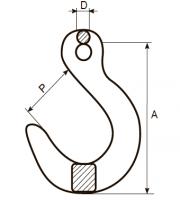 Крюк литейный с широким зевом