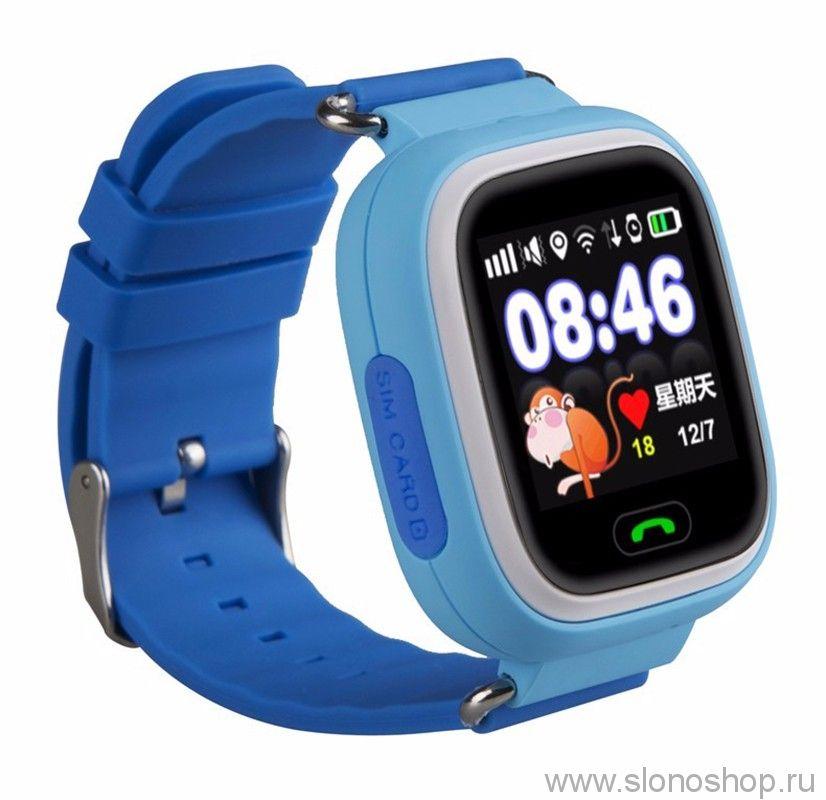 Детские умные смарт часы q90 (gw100) с GPS трекером Smart Baby Watch