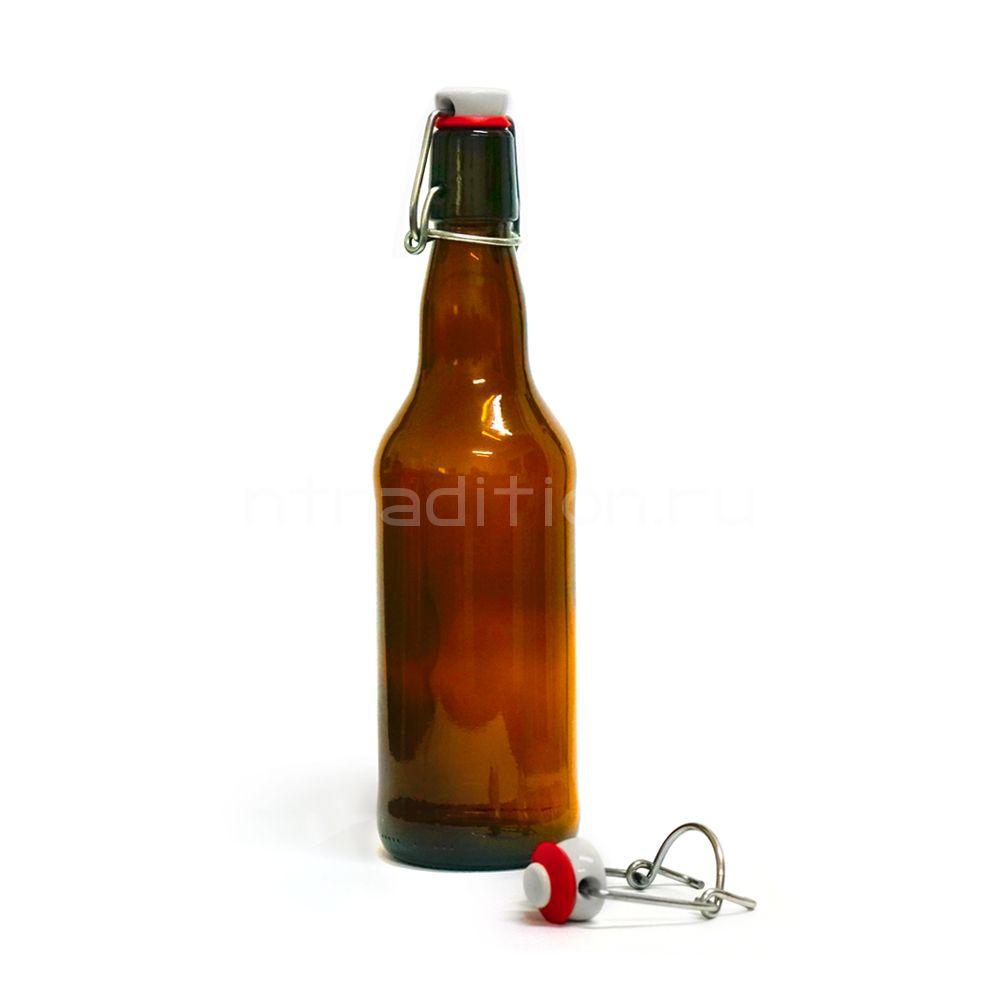 Пивная бутылка с бугельной пробкой 1 л