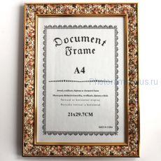 Рамка для диплома А68 ( оформление: цветы)