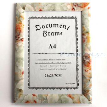 Фоторамка для документов А78 (цветы и камешки)