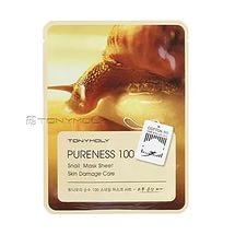 Tony moly pureness 100 snail mask sheet skin damage care 21ml - Тканевая маска с экстрактом улиточной слизи
