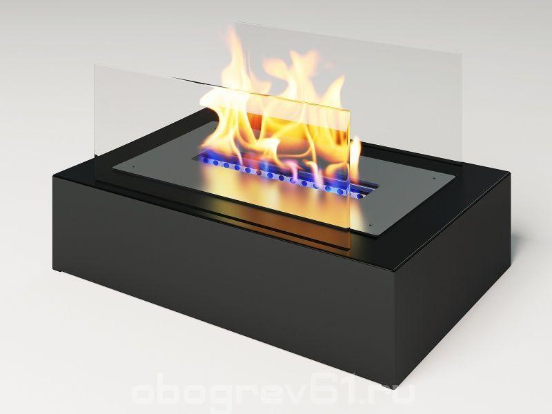 Биокамин Glass black mini