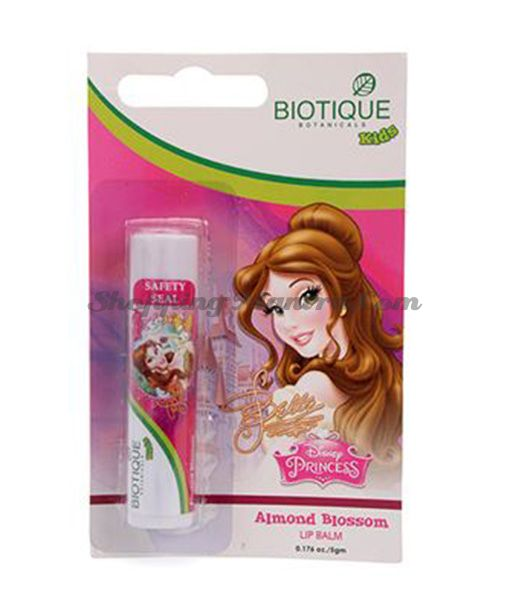 Детский бальзам для губ Биотик Дисней Принцесса Белль Миндаль   Biotique Disney Princess Belle Almond Blossom Baby Lip Balm