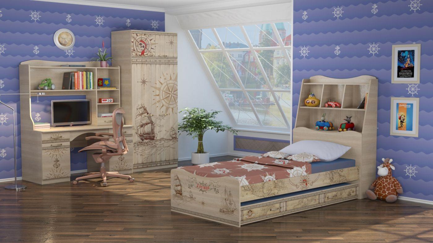 """""""Квест"""" кровать с выкатным ящиком"""