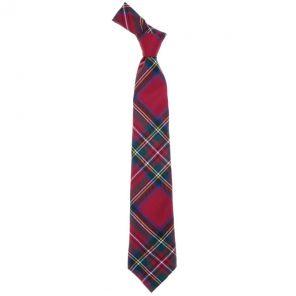 Истинно шотландский клетчатый галстук 100% шерсть , расцветка клан Стюарт (королевский)