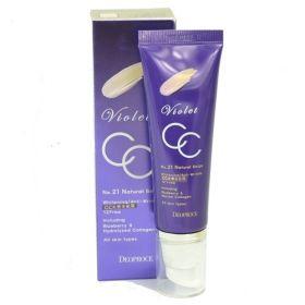 Deoproce Violet CC Cream SPF49/PA+++ 50ml - СС-крем с коллагеном и экстрактом черники