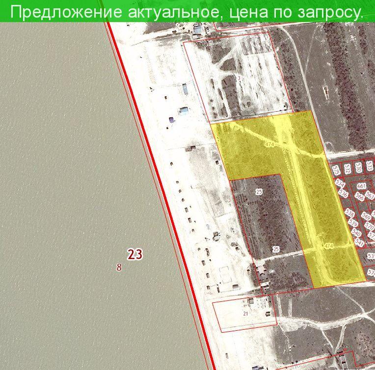 Участок на берегу Азовского моря 3.5 га. станица Должанская Краснодарский край.