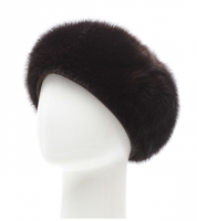 Женская шапка из меха норки
