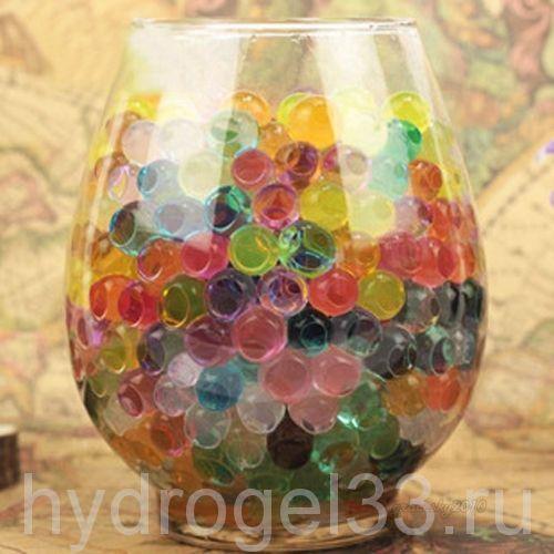 Гидрогель аквагрунт 1 см разноцветный (2000 шт)