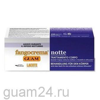 GUAM Крем  ночной с разогревающим эффектом на основе грязи FANGOCREMA, 200 мл. код (1734)